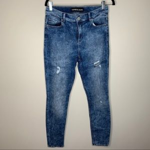 Express Acid Wash High Rise Legging Jeans 8R